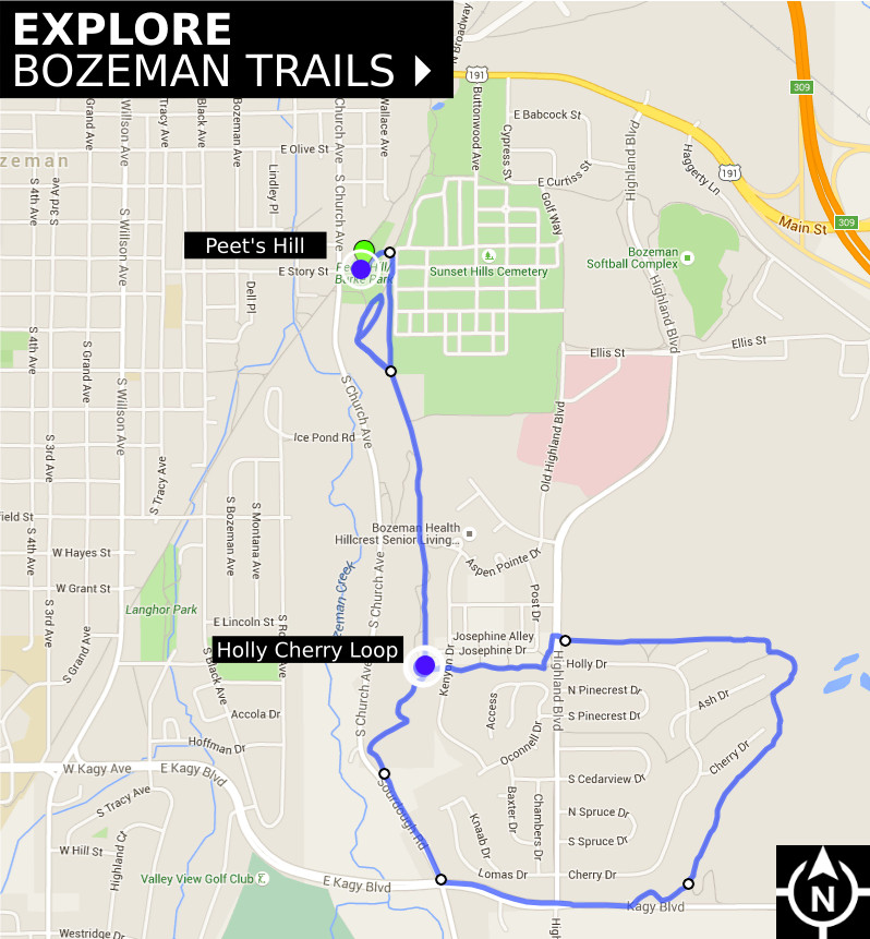Bozeman Peets Hill Holly Cherry Loop Trail