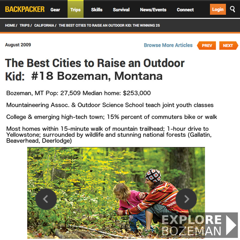 Best Places To Raise An Outdoor Kid - Bozeman, MT