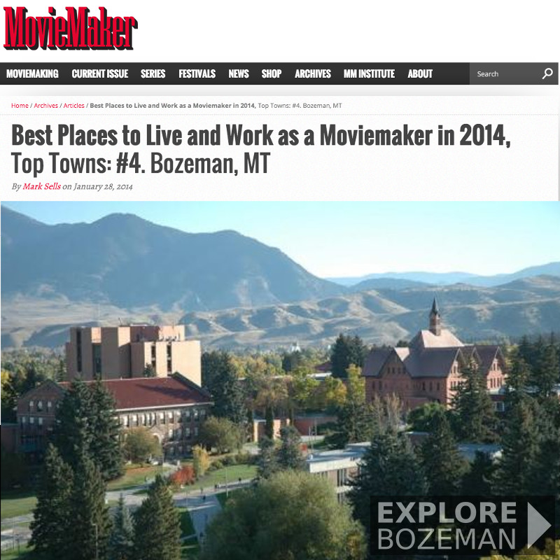 Best Places to Live and Work as a Moviemaker