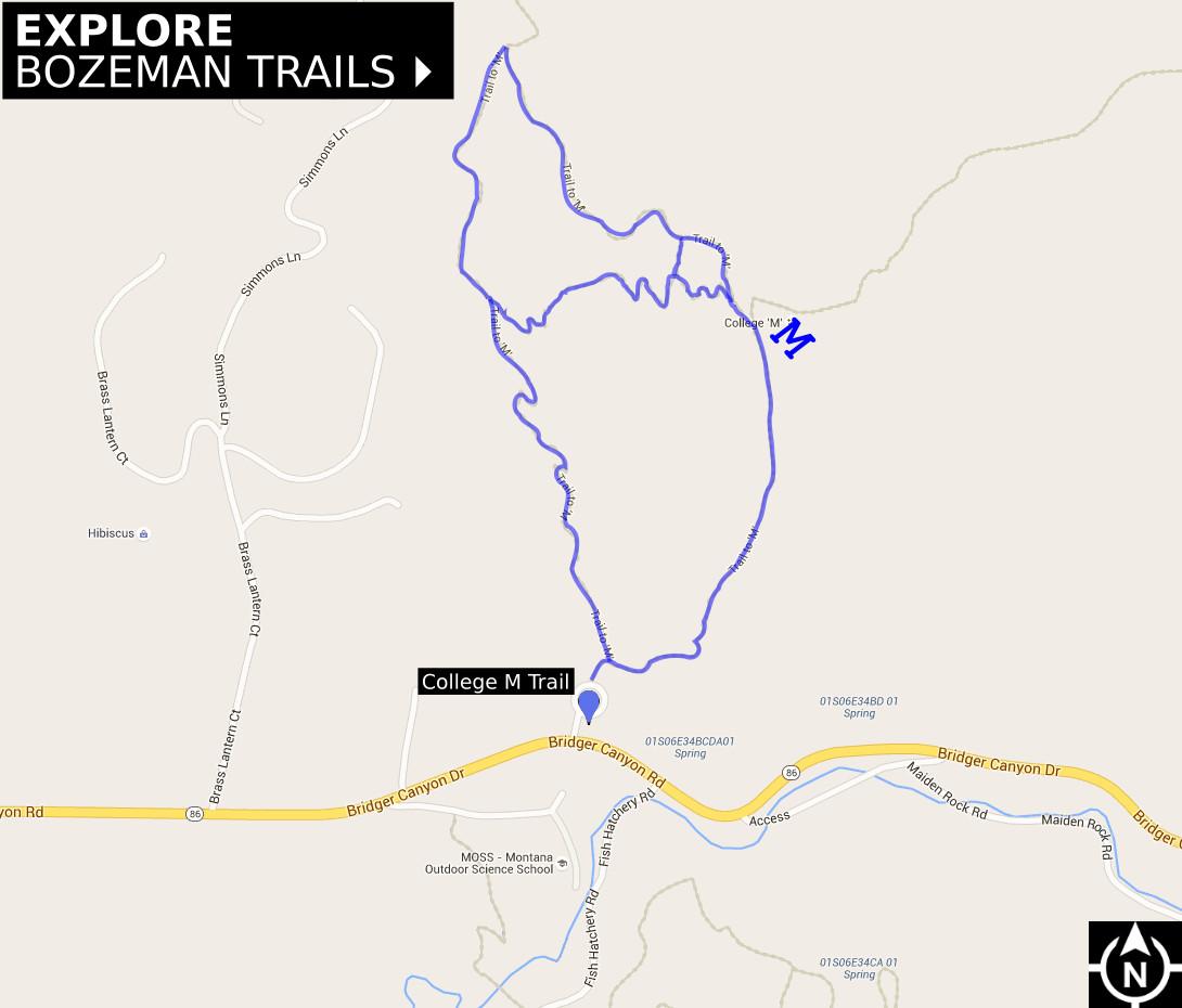 Bozeman College M Trail - Explore Bozeman