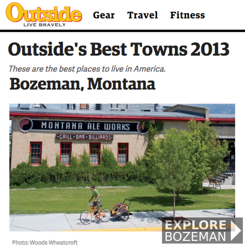 Outside Magazine Best Towns - Bozeman, Montana