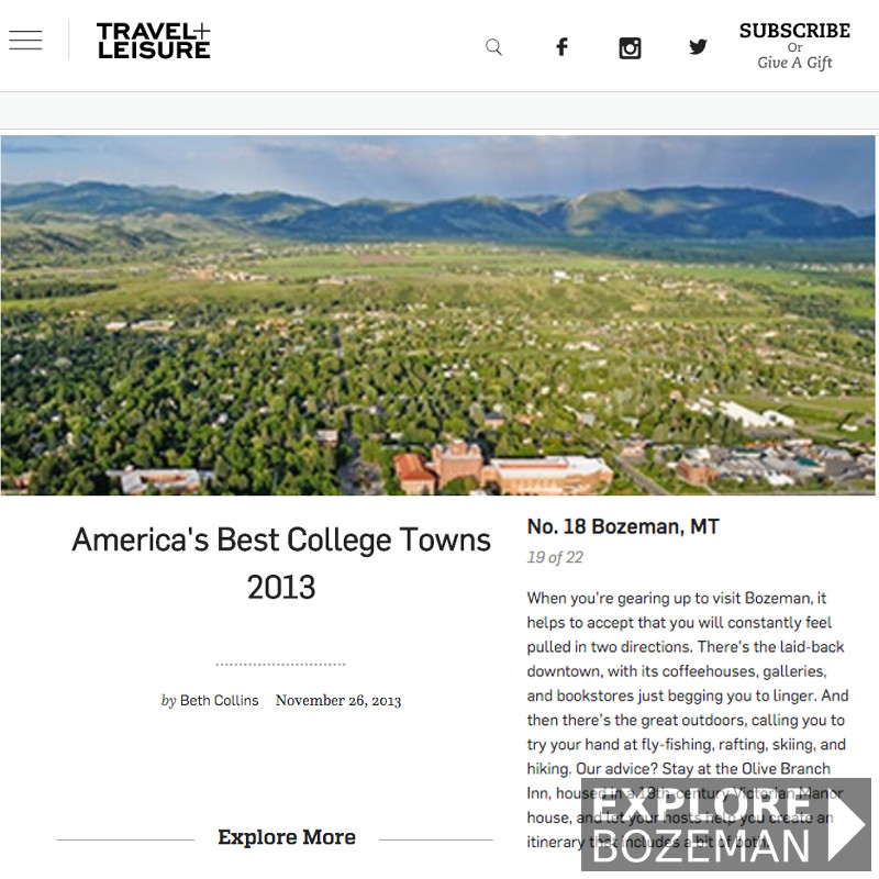 America's Best College Towns - Bozeman, MT
