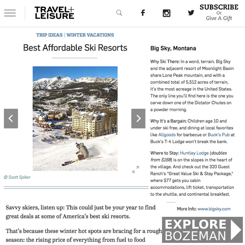Best Affordable Ski Resorts - Big Sky, Montana