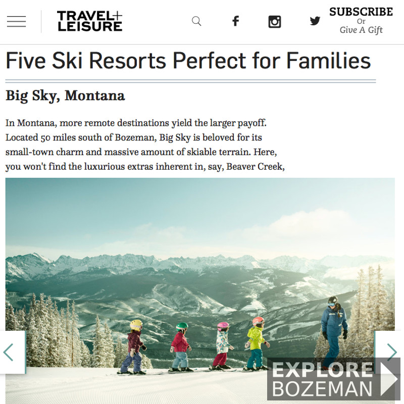 Five Ski Resorts Perfect for Families - Big Sky Resort, Montana